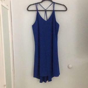 Royal blue xhilaration high – low dress